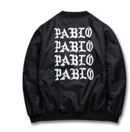 Wholesale Life Like - 2016 Autumn Winter Jacket I feel like Paul Pablo The Life Of Pablo MA1 Bomber Jacket Brand Bomber Coat Men basebll thicken jackets