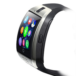 Wholesale Fashion Cameras - smartwatches smartwatch bluetooth smart watches fashion curved surface Q18 support SIM TF card with camera for Android