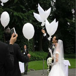 Wholesale Diving Inflatable - Wedding Helium Inflatable Biodegradable White Dove Balloons for Wedding Party Decoration Doves Shaped Bio Balloons 104*40CM