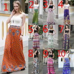 Wholesale Digital Print Dresses - 2017 New European and American women skirt Spring and summer high - definition digital printing dress High waist big skirt