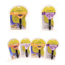 Wholesale Can Trims - 2017 Pet Comb Tool Grooming Brushes Pet Grooming Products Cats With Packages Lot Can Mix Brush Grooming Trimmer Comb Pet Rake