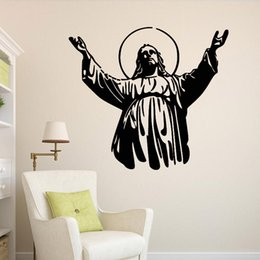 Wholesale Christian Stickers - Christian character Jesus wall stickers Religion Wall Decal for Living Room Study room Home Decoration