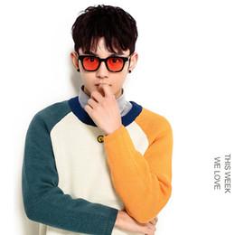 Wholesale Korean Retro Glasses - Wholesale- 2016 Fashionable Colorful Korean Mini Sunglasses Women Men Slim Brand Sun Glasses For Men Round Sunglasses Oculos Retro SU045