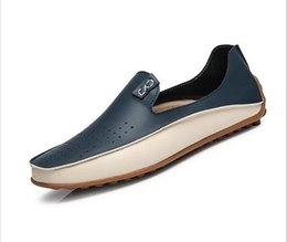 Wholesale Causal Slip Loafers Men - Brand Summer Causal Shoes Men Loafers Genuine Leather Moccasins Men Driving Shoes High Quality Flats For Man size 36-47