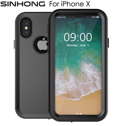 Wholesale Swim Full Body - IP68 10M Deep Waterproof Case For Apple iPhone X iPhoneX Cover Water Proof Shockproof 360 Full Body Protect For Diving Swimming