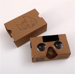 Iphone de los vidrios 3d de la cartulina online-Bricolaje 3D Gafas Google cartulina VR BOX II 2.0 Versión VR Realidad virtual VR 3D Gafas para 3.5 - 6.0 pulgadas Smartphone iphone 5 6 7 plus s6 s7