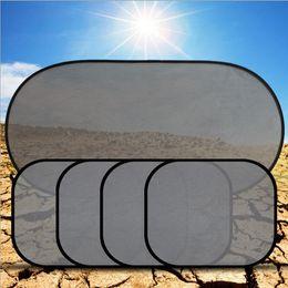 Wholesale Car Rear Window Sunshade - Hot Sale 5Pcs Black Plain Car Window UV Mesh Sun Shades Blind Kids Baby Children Sunshade