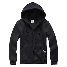 Wholesale Wholesale Long Cotton Coat Mens - Wholesale- 2017 Men Hoodies and Sweatshirts Mens Casual Cotton Hooded cardigan Hoddie Coat hip hop Sportsuit Tracksuit Sweatshirt