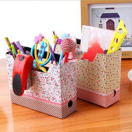 Wholesale Paper Board Storage Box - DIY Hot Makeup Cosmetic Stationery Paper Board Storage Box Desk Decor Organizer MD349