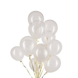 Wholesale Pearl Clear Coat - 12inch transparent latex balloons pearl balloons clear balloon wedding birthday party decor latex balaos decoratio