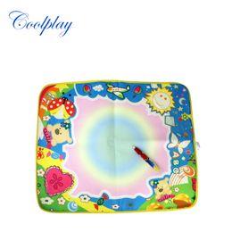 Wholesale Drawing Magic - Water Drawing Mat Magic Water Pen Drawing Board Baby Play Mat Educational Toys 60X49cm 4 Colors Free Shipping 2107321