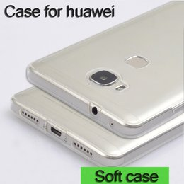Wholesale Huawei Ascend Honor Cases - Phone Case For Huawei Honor 5X 7 Clear Soft TPU Case for Huawei Ascend P8 P8 Lite P9 P9 Lite Silicone Back Cover