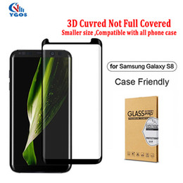 Wholesale Note Typing Case - Case Friendly For Samsung Galaxy S8 S8 Plus Note 8 Note8 Small Type 3D Curved Tempered Glass Screen Protector Using With Any Cases