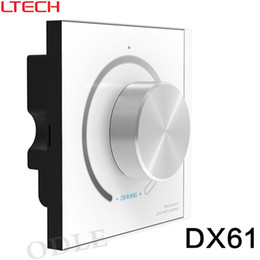 2019 geführtes dimmersignal AC110-240V DX61 Drehknopf Panel Wandmontage LED Dimmer Controller 2,4G RF Wireless Sync Control DMX512 Signalausgang günstig geführtes dimmersignal