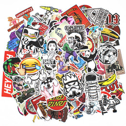 Wholesale 400Pcs Skateboard Vinyl Sticker Skate Graffiti Laptop Luggage Car Bomb Decal