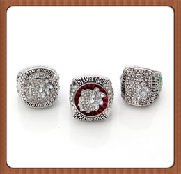 Wholesale Diamond Ring Cup - Free Shipping For NHL Set Replica Ice Hockey Chicago Blackhawks Set 2010 2013 2015 Stanley Cup Championship Ring Three Rings High Quality