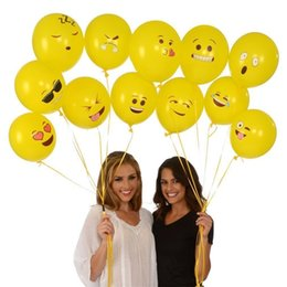 Wholesale 12 Inch Latex Balloons - Christmas 12 inches Party Adornment Balloon Emoji Latex balloons Halloween Children Gifts Emoji Party Supplies C2505