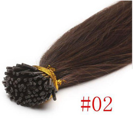 Wholesale Keratin Tip Brazilian Hair - Mink Brazilian I-tip U-tip Hair Extensions 100pcs Pack Straight Keratin Brazilian Hair Extensions #2 #4 #613 Peruvian Malaysian