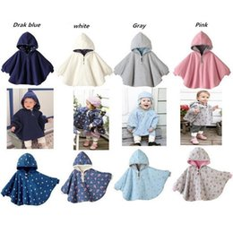 Wholesale Two Side Poncho - New Fleece Combi Baby Coat Babe Cloak Two-sided Outwear Floral Baby Poncho Cape Infant Baby Coat Children's Clothing