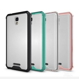 Wholesale Cover For Alcatel - Case For Alcatel POP 4 Cover Crystal Clear Transparent Acrylic TPU PC Anti-knock Hard Back Cover For Alcatel POP 4 Case