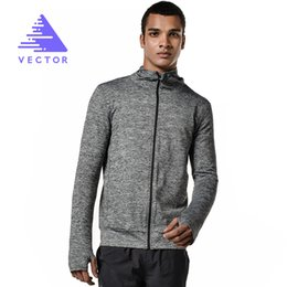 Wholesale Running Windproof Jacket - Wholesale- VECTOR Running Jacket Men Women Breathable Quick-drying Running Jersey Wind Coat Protect Sports Hooded Running Jacket XXF30004