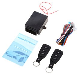 Wholesale Car Alarm Door Lock - 10PCS Universal Alarm Systems Car Auto Remote Central Kit Door Lock Locking Vehicle Keyless Entry System With Remote Controllers