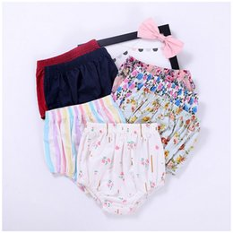 Wholesale Matching Underwear - 7 Style Summer Baby Shorts 2017 New Flower Printe Girls Underwear Stripe Floral All-match Kids Bottoms Fashion Children PP pants C591