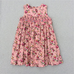 Wholesale Korean Style For Kids - Girls Flower Dresses For Girl New Model Cute Baby Girls Party Princess Korean Children Dresses Kids Flower Print Dress 2017 Summer