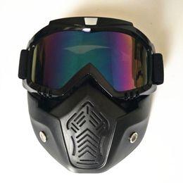 Wholesale Cool Ski Goggles - Wholesale- Ski goggles Cool outdoor sports glasses ski mask motorcycle goggles dust mask Cycling Glasses Sports Goggles