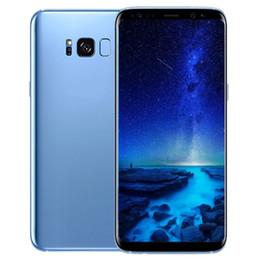 Wholesale Single Sim Inch - ERQIYU Goophone S8 S8+ plus android 7.0 unlocked smart phones shown 4G LTE 4G RAM 64G ROM 5.6 inch Cell phones