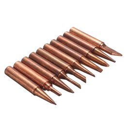 Wholesale Soldering Head - New Arrival 10pcs 900M-T Soldering Tip Pure Copper Electric Iron Head Series Solder Tool Hot Sale