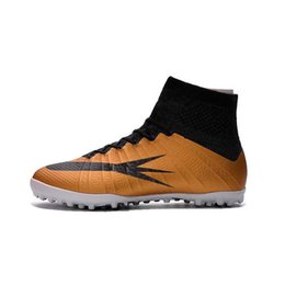 Wholesale Air 38 - 2017 kids CR7 Soccer cleats outdoor turf Magista fOOtball Boots High Ankle Soccer Boot Soccer gold Shoes 35-38