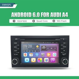 Wholesale Gps Android Audi A3 - 1024*600 Quad Core Car DVD Player Stereo Android 6.0 Free shipping Bluetooth gps navigation For AUDI A3 A4 TT NO TAX EW810PQH