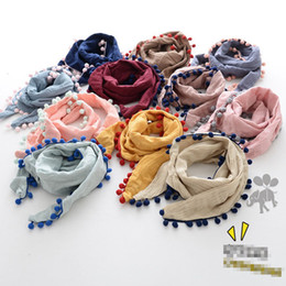 Wholesale Toddler Scarf Cotton - Hot sale Fashion boys girls Winter Scarf 2017 new cotton tassels Children Scarves Kids Scarf Toddler Scarves Children Wear A1013