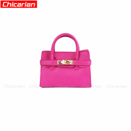 Wholesale Pink Purple Kids Purse - Chicarian Stylish Children's Handbag Designer Handbags For Girls Baby Candy Color Tote Bag Fashion Toddler Purse kids Messenger Bags CA003