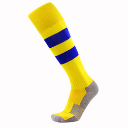 rugby accessories Promo Codes - Hot sales High Quality Brand Sport socks Men's Soccer socks adult sport socks men's Knee High cotton soccer stocking thai quality Thicken T