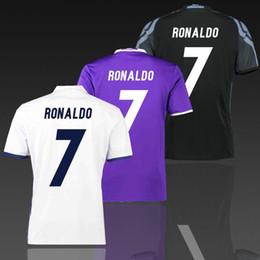 Wholesale Cheap Uniform Set Soccer - Real Madrid Home away third shirt game uniform 2016 2017 mens Thai quality soccer jerseys FC cheap football set accept custom mix order