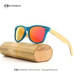 Wholesale Cheap Bamboo Sunglasses - Wholesale- KITHDIA New cheap bamboo sunglasses handmade bamboo wooden glasses brand design sun glasses for men women custom logo available
