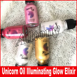 Wholesale Gold Highlighter - New Unicorn Highlighter Oil Illuminating Glow Elixir 5 Shade Glow Cult Glitter 24k Gold Moon Beam Rose Highlighter Eyeshadow 1.5OZ DHL Free