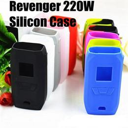 Wholesale Colorful Shipping Boxes - Vaporesso Revenger 220W Silicon Case Revenger Skin Cases Colorful Soft Silicone Sleeve Cover Skin Vaporesso Revenger 220 Box Mod Free Ship
