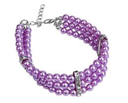 bague de chien en plastique Promotion Chien Pet perles collier collier chiot pour animaux de compagnie bijoux avec accessoires bling 3 tailles 3 Couleurs Livraison gratuite