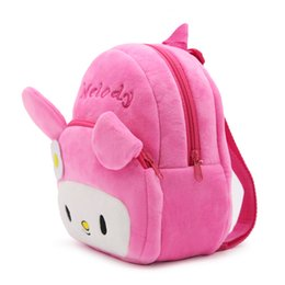 Wholesale Cute Infant Baby Bags - Infant Cute Baby Kids School Bags Cartoon Rabbit Melody Plush Backpack Preschool Children Schoolbag For Kindergarten Girls Bags