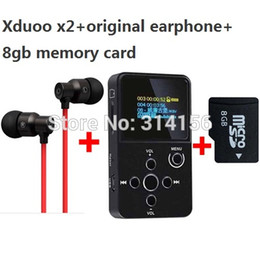 Wholesale oled player - Wholesale- with 8GB TF card+original earphone,XDUOO X2 HIFI MP3 digital audio Music Player with OLED Screen Support MP3 WMA APE FLAC WAV