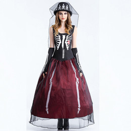 Wholesale Women S Clothing Models - Female models Skeleton Queen Fit Cosplay Costumes Stage Clothes Game Clothes Fancy Dresses Bitter Fleabane Bitter Fleabane Skirt