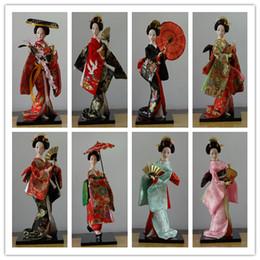 Wholesale Oriental Dolls - 30cm Oriental Japanese silk furnishings Kimono Kabuki Geisha Doll Birthday Xmas Hinamatsuri Girl's day Gift