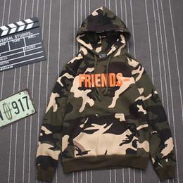 Wholesale Friends Sleeve - Vlone friends Hoodies and sweatshirts Army Green military jackets men camouflage asap rocky virgil abloh hoodie