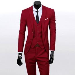 Wholesale Designer Mens Business Suits - Wholesale- 2016 Brand Designer Mens Wedding Suit New Fashion Business Suits For Men's Blazer Suit Clothing Men Suits For Wedding Nice S1880