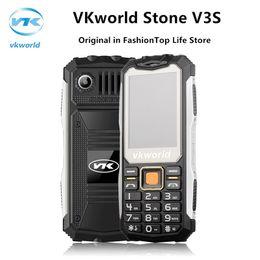 Wholesale Elder Cell Phones - Original Waterproof Shockproof cell phone VKworld Stone V3S Physical Keyboard Dual SIM LED Lights outdoor Elder Cellphone