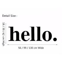 Wholesale Simple Mural Designs - Hello Wall Decal Quotes - Hello Door Decal Welcome Wall Stickers - Hello Wall Quote Stickers Home Decor - Simple Design Style DIY