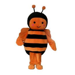 Wholesale Orange Cartoon Pictures - Loveky Bee Mascot Costumes Cartoon Character Adult Sz 100% Real Picture